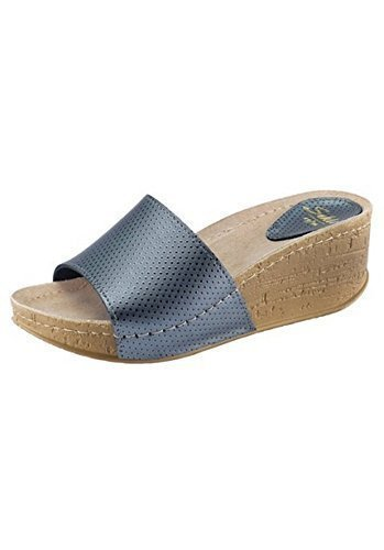 in Blue Ladies Clogs leather blue Dr Grey Feet From of Grey WBTTYqvw