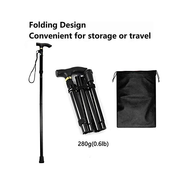 Evealyn-WalkingHikingTrekkingCamping-StickPoleCanes-Foldable-Collapsible-Portable-Lightweight-Adjustable-Hand-Walking-Cane-Mountaineering-Crutches-Outdoor-for-Men-Women-2