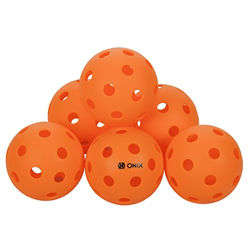 Onix Pure 2 Indoor Pickleball Balls - (6-Pack, Orange)