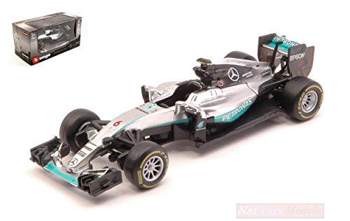 Bburago Mercedes AMG Petronas F1 W07#6 Hybrid Nico Rosberg F1 Formula 1 Car 1/43 Diecast Model Car by 38026NR (Best Formula One Car)