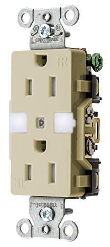 Lite Duplex Led - Bryant Electric DRS15NLI Combination LED Nightlight with Automatic Sensor and Decorator Tamper-Resistant Duplex Receptacle, 15 Amp/125V, Ivory