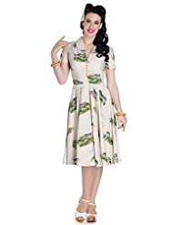 Hell Bunny Safari Dress Zebra Vintage Pinup Retro