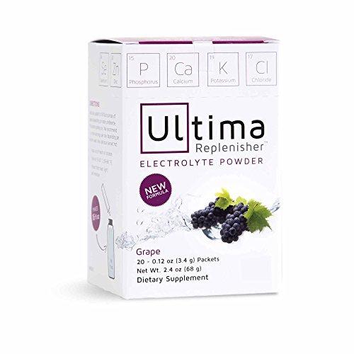 Ultima Replenisher Electrolyte Powder, New Formula Grape, 20 Count Stickpacks by Ultima Replenisher