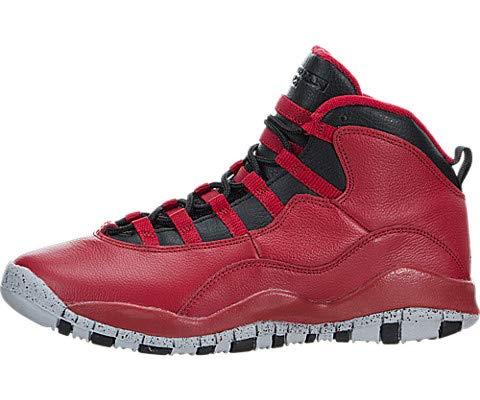 Nike Boys Air Jordan 10 Retro 30th BG Bulls Over Broadway Gym Red-Black-Wolf Grey Leather Size 5.5Y Basketball Shoes (Jordan 8 Black Gym Red Black Wolf Grey)