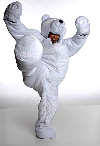 Snoozzoo Adult Polar Bear Sleeping Bag for Adults up to 75 inches Tall. ()