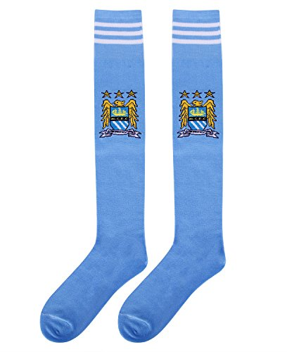 Manchester City Soccer Team Club Athletic Gift Sports Socks for Adults