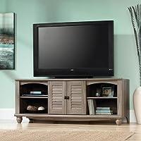 Sauder Harbor View Salt Oak Entertainment Credenza for TVs up to 60