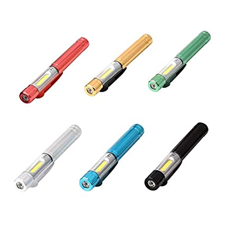 GAIAN C1401 Stiftlicht Tragbare Mini-3,7v Li-Ion-Akku Arbeitsinspektionslicht Golden COB und SMD