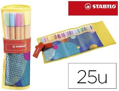 Rotulador stabilo punta de fibra point 88 just like you estuche rollerset de 25 unidades colores surtidos.: Amazon.es: Oficina y papelería