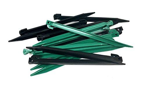 "16 Piece 11.5"" Length Medium Heavy Duty Nylon Plastic Tent Nails Stakes Pegs"