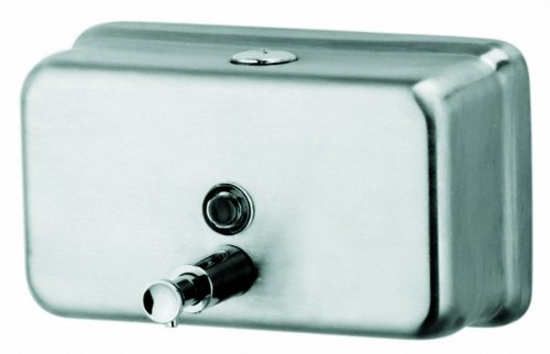 Continental H333SS Stainless Steel Horizontal Liquid Rectangular Soap (Continental Soap Dispenser)