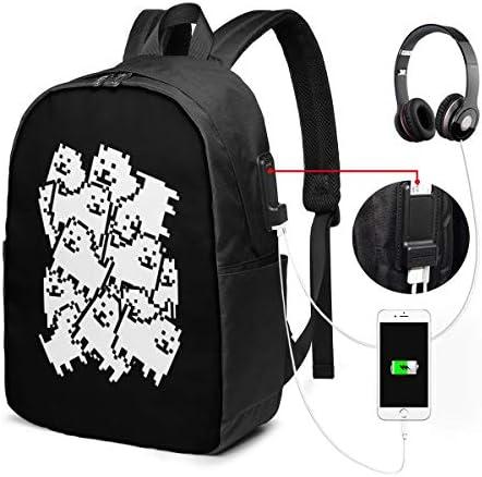 ビジネスリュック アンダーテール 犬 メンズバックパック 手提げ リュック バックパックリュック 通勤 出張 大容量 イヤホンポート USB充電ポート付き 防水 PC収納 通勤 出張 旅行 通学 男女兼用