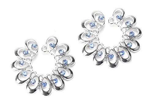... Jewelry   Women   B014A13JKM. BODYA Blue Cz Gems Crystal Sunflower Nipple  Shield Rings Non-Piercing Clip on Circle Nipple 7af9a07782cc