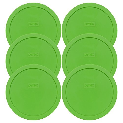 Pyrex 7402-PC Round 6/7 Cup Storage Lid for Glass Bowls (6, Green)