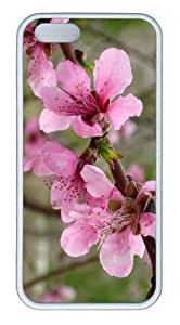 iPhone 5S Customized Unique Landscape Flowers Pink Flower 2 New Fashion TPU White iPhone 5/5S Cases
