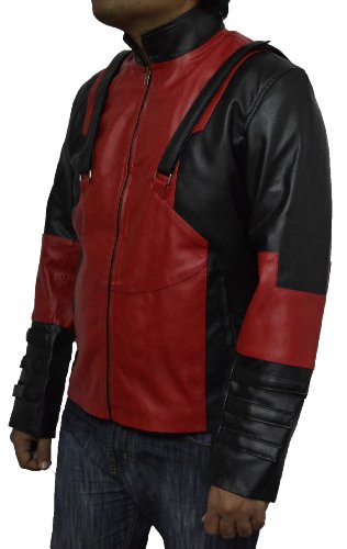Deadpool costume, Mens deadpool costume, comic game faux leather jacket V3. All sizes available