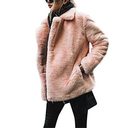 Sciolto Lunghe Sintetica Capispalla In Pelle Con Maniche Pink tdBxPwFqW