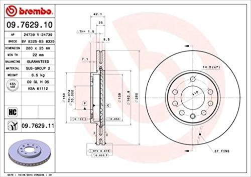 Brembo Bremsbel/äge Bremskl/ötze Bremsenset Bremsenkit Komplettset Vorderachse Original Brembo Bremsscheiben vorne Bremsenreiniger