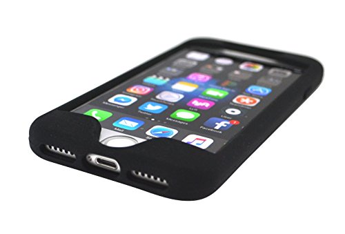 TuneBand for iPhone 7, Premium Sports Armband with Two Straps and Two Screen Protectors, BLACK by Grantwood Technology (Image #3)