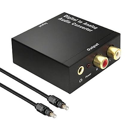 Digital to Analog Converter,KUYiA DAC Optical Digital SPDIF Coax to Analog RCA Audio Converter