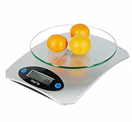 AAJ ® Digital LCD Glass Electronic Kitchen Household Weighing Food Cooking Scales (1 Gram - 5 KG)