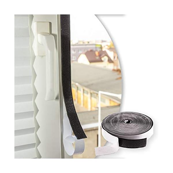 418EnY oaQL Door easy Fliegengitter Klettband selbstklebend - Extra starker Halt - Fliegengitter Fenster Klettband - 7m Klebeband…