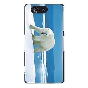 Cute Polar Bear Phone Case For Sony Xperia Z3 Compact (Z3 mini) Winter Ice Polar Bear