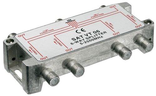 MANAX câbles d'antenne - 6 voies avec répartiteur 5–2450 mHz-compatible numérique (100dB)