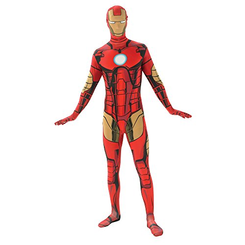 Iron Man Costume 38-40 (Rubie's Costume Men's Marvel Universe Iron Man Adult 2nd Skin Costume, Multi, Medium)