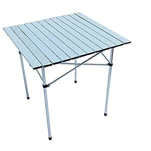 Zheshen ultraligero de aluminio plegable mesa de camping for Mesa de camping plegable de aluminio