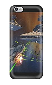 Fashionable Style Case Cover Skin For Iphone 6 Plus- Star Wars Millennium Falcon Star Destroyer