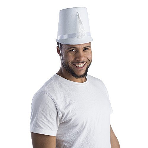 Dress Up America Unisex-Adult's White Marching Band Hat,]()