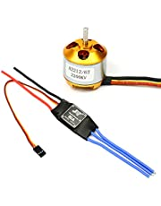 BGNing 2212 2200kv Brushless Outrunner Motor W/mount 6t + 30a ESC Controller for Drone Rc Quadcopter Multi Copter UFO
