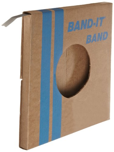 "BAND-IT VALU-STRAP Band C13499, 200/300 Stainless Steel, 1/2"" wide x 0.015"" thick (100 Foot Roll) from Band-It"