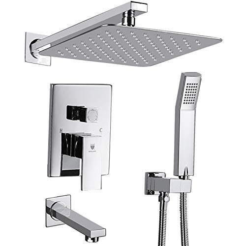 (HIMK Shower System, Shower Faucet Set with Tub Spout and 10