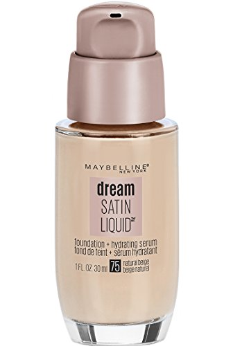 Maybelline New York Dream Satin Liquid Foundation, Natural Beige [75] 1 oz (The Best Liquid Foundation)