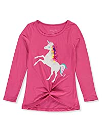 Colette Lilly Girls' Unicorn Pom Poms L/S Top