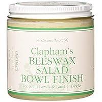 Cera de abejas de Clapham 870-3008 Acabado para ensaladas, 7 onzas