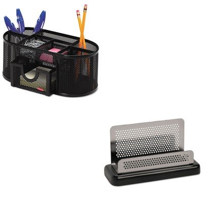 (KITROL1746466ROLE23578 - Value Kit - Rolodex Distinctions Business Card Holder (ROLE23578) and Rolodex Mesh Pencil Cup Organizer (ROL1746466))