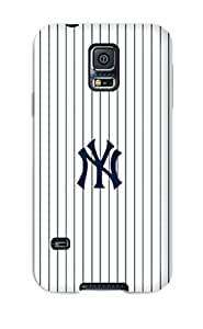 Galaxy S5 Case Cover - Slim Fit Tpu Protector Shock Absorbent Case (new York Yankees )