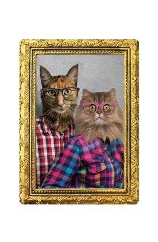 Cat Couple Portrait Funny Novelty Tin ()