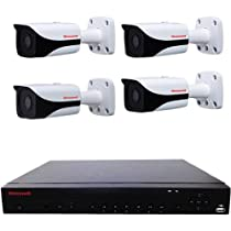 Honeywell Performance Series IP 4-Channel H.264 1080p Embedded NVR with 2TB HDD, Includes 4x IR Bullet Cameras