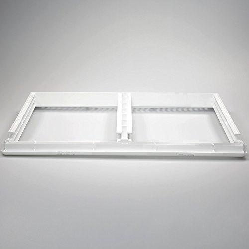 Frigidaire 240364786 Refrigerator Crisper Shelf Frame Genuine Original Equipment Manufacturer (OEM) part for Frigidaire, Crosley, Kelvinator Refrigerator Glass Crisper Shelf