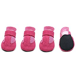 Namsan Dog Hole Shoes Pet Puppy Fashion Boots (Small & Pink)