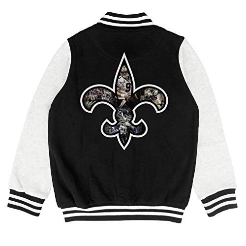 Team Logo Brees Child Varsity Coat Fashion Baseball Jacket for 2-10 Y