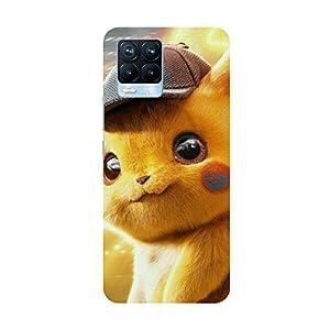 """TRUEMAGNET Premium """"Pikachu"""" Printed Hard Mobile Back Cover for Realme 8 / Realme 8 Pro, Designer & Attractive Case…"""