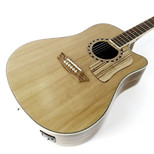 Washburn Woodcraft Series WCSD32SCE Dreadnought Acoustic-Electric Guitar Natural ()