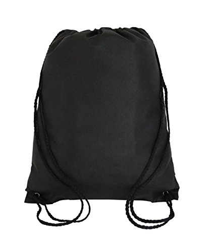 Value Pack-100 Pack Mix Color Drawstring Bags, Small Cinch Packs, Non-Woven(Mix) (Black) by Georgiabags