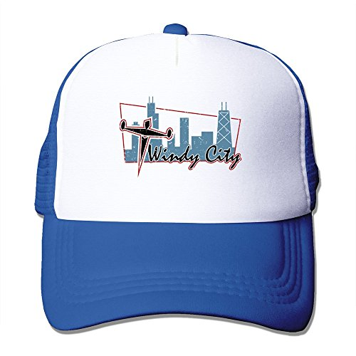 Windy City Baseball (Cool Chicago The Windy City Adult Baseball Trucker Hat Cap One Size)