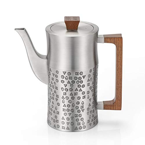 - Royal Selangor Hand Finished Five Elements Collection Pewter Coffee Pot